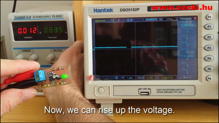 Smoothly rise the voltage