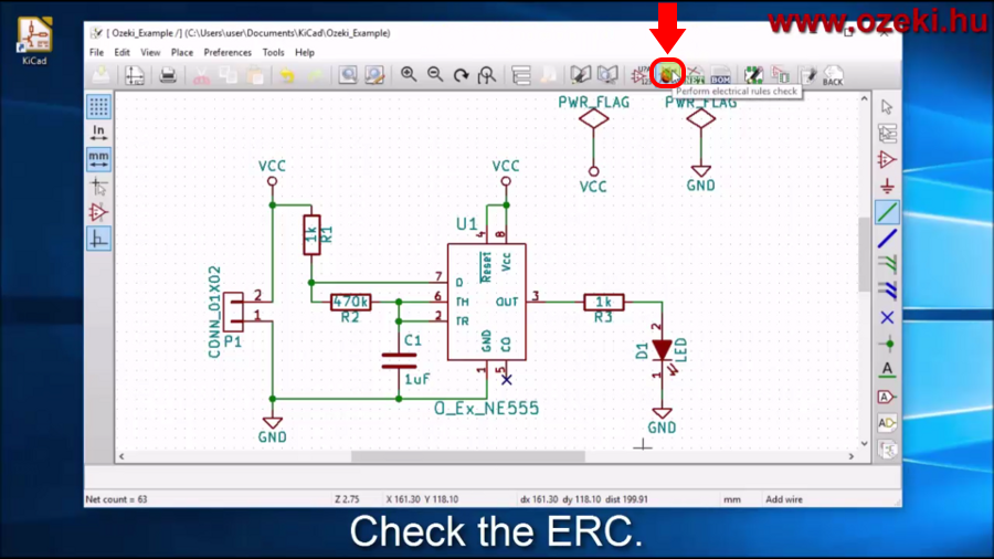 Run the electrical rules checker