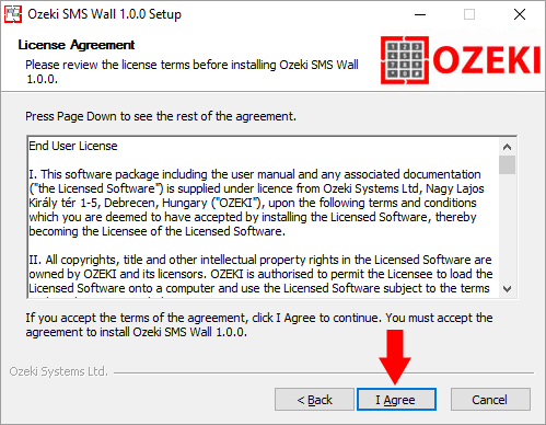 License agreement for the Ozeki Cluster