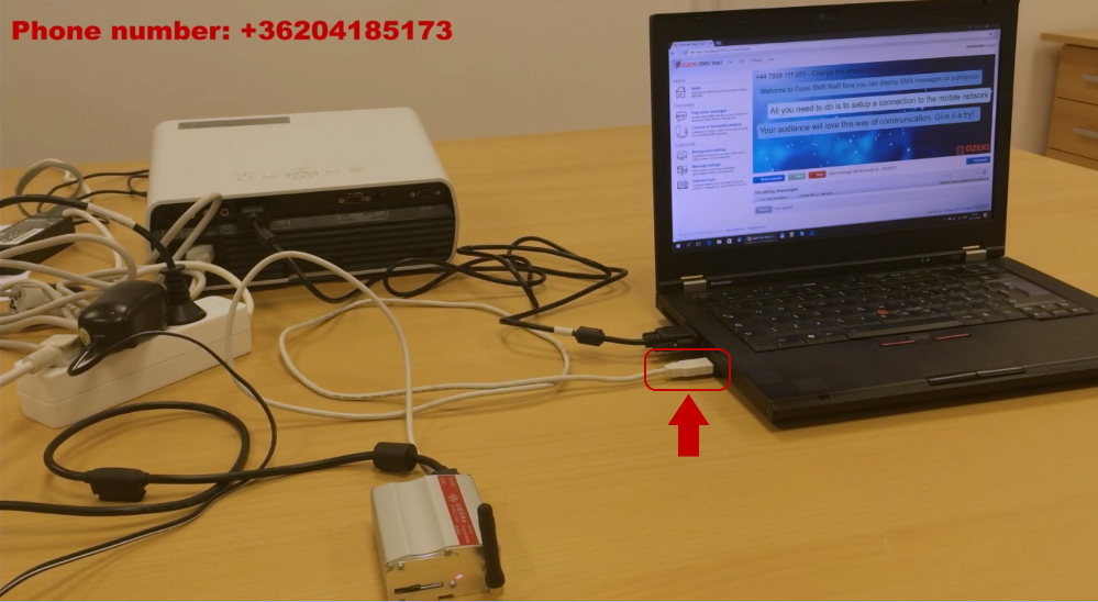 Connecting Sierra Wireless GPRS Modem to the laptop