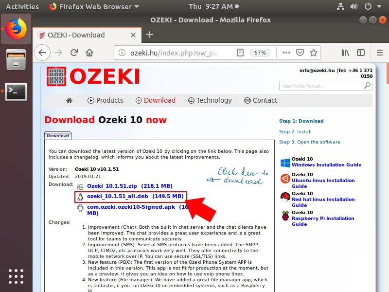 OZEKI - Install Ozeki 10 on Ubuntu Linux