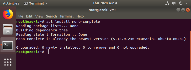 Installing mono-complete package