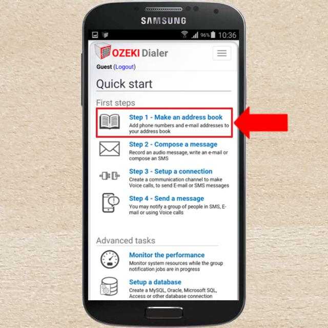 ozeki how to create an android address book in ozeki bulk messenger