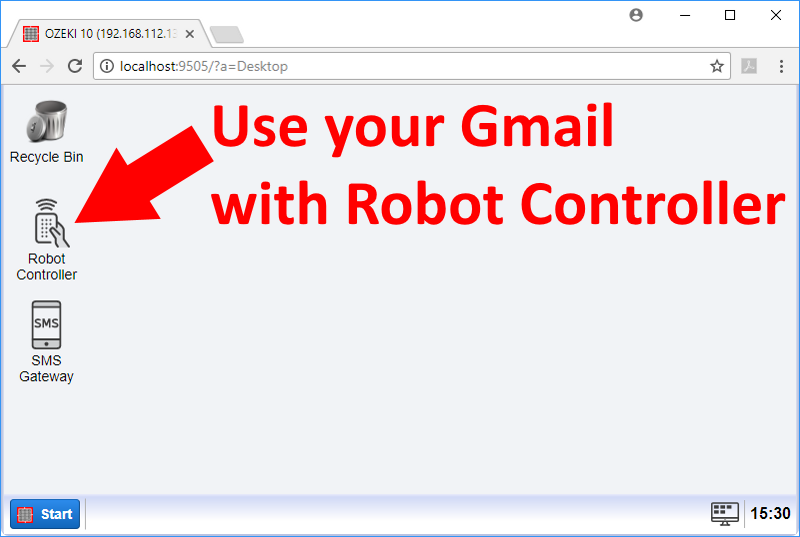Use your gmail with Robot Controller