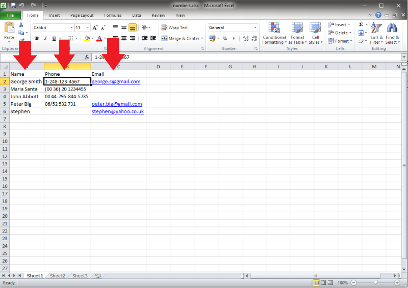 OZEKI - How to import contacts from XLSX list to Ozeki Bulk