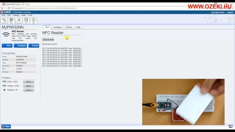 OZEKI - Arduino NFC Reader