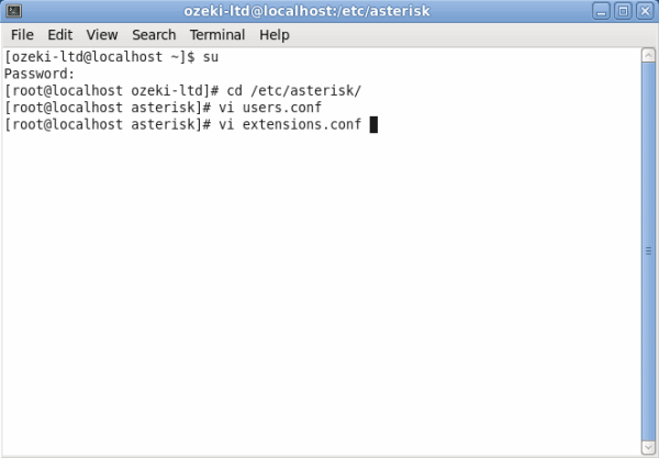 OZEKI - How to create a SIP account in Asterisk