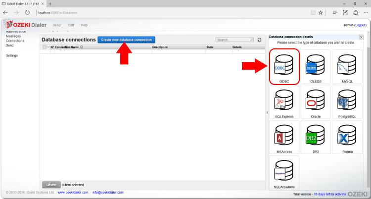 OZEKI - How to setup an Informix database connection