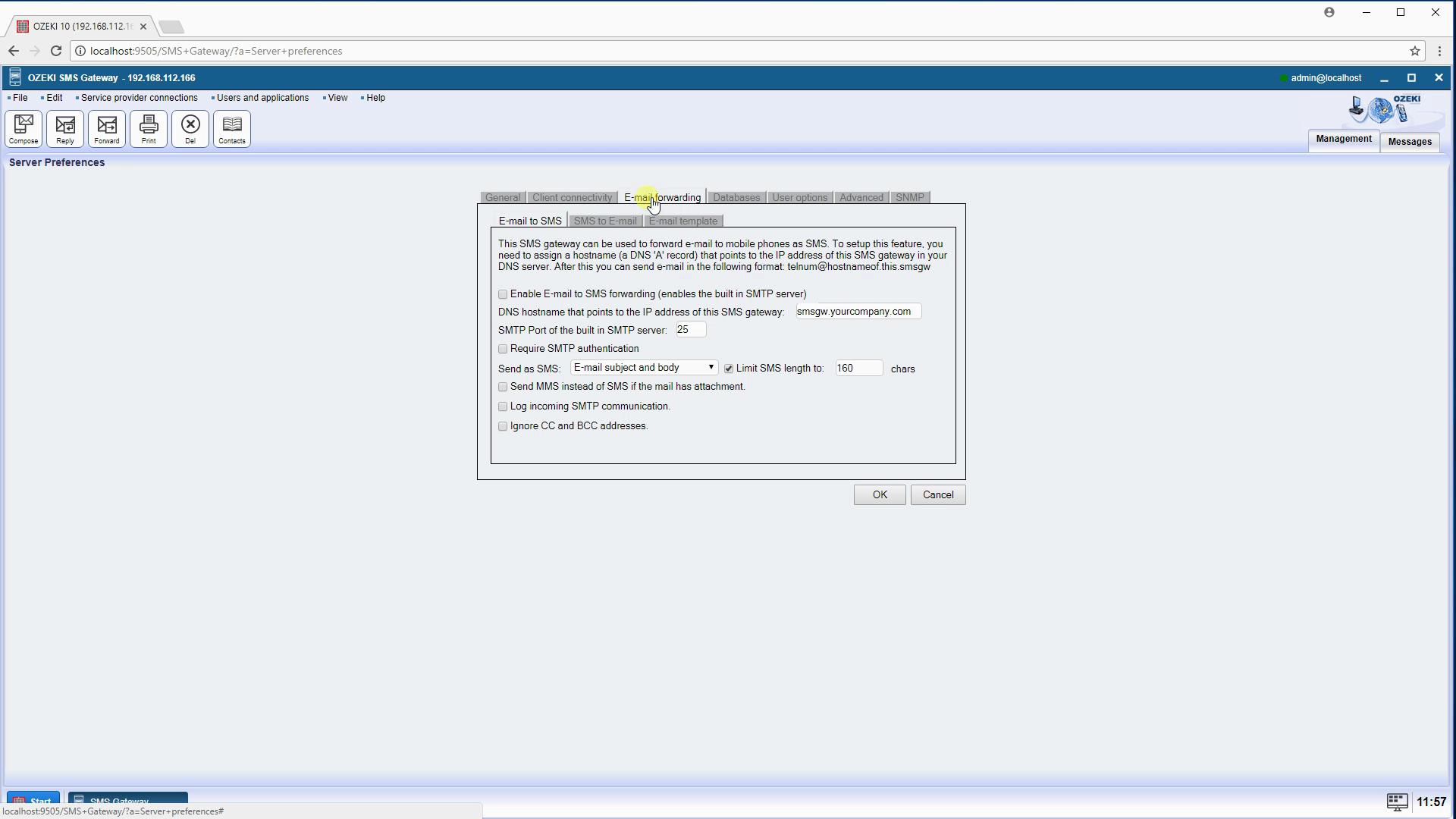 OZEKI - Solutions Built-in SMTP server