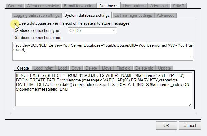 OZEKI - MySQL Configuration