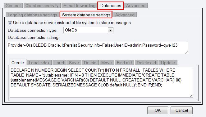 OZEKI - Oracle Configuration