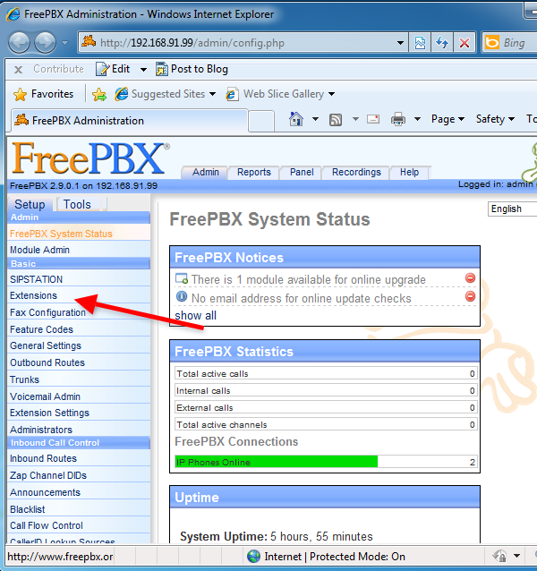 OZEKI - How to create a SIP account in FreePBX